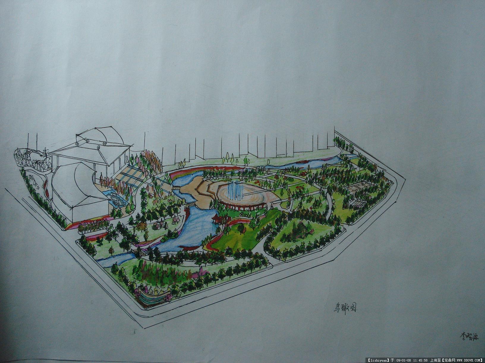 园林小区手绘平面图在线观看>>室内平面图手绘>>手绘