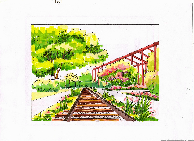 手绘景观的图片浏览,园林效