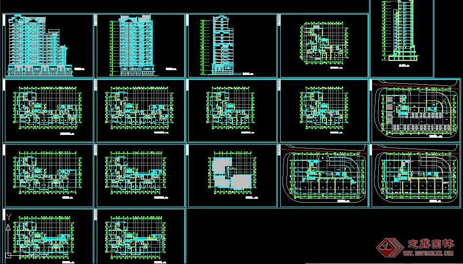 高層公寓初步設計方案的下載地址,建筑方案圖紙,居住